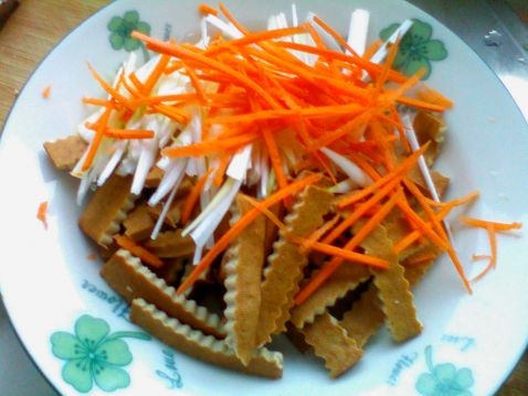 【图】葱丝豆腐干_视频豆腐干的做法,做,白鹅葱丝走路图片