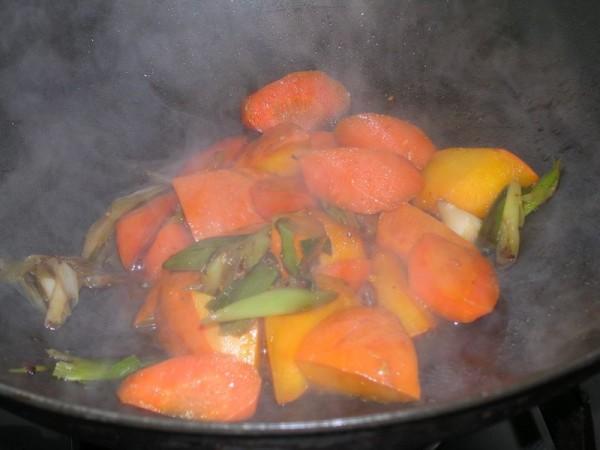 南瓜焖胡萝卜