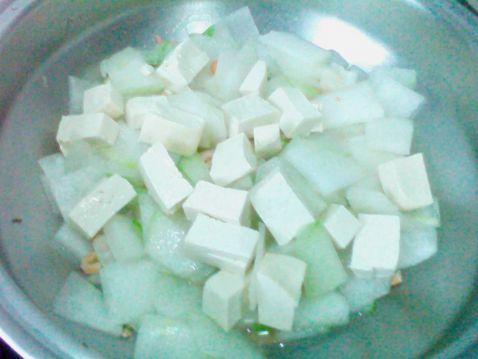 海米冬瓜炖豆腐