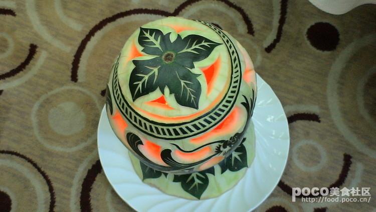 西瓜盅雕刻图片步骤