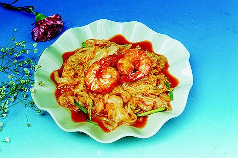 大虾炒白菜的做法【步骤