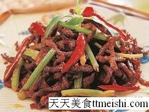 芹菜炒牛肉的做法【步骤图】_1