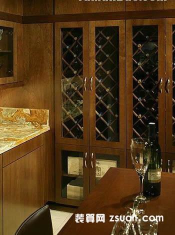 古典欧式厨房实景图暖色储物柜
