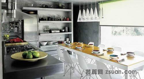 另类欧式厨房实景图餐台