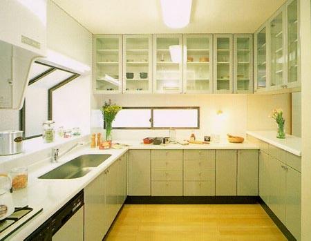 窄正方形厨房设计图