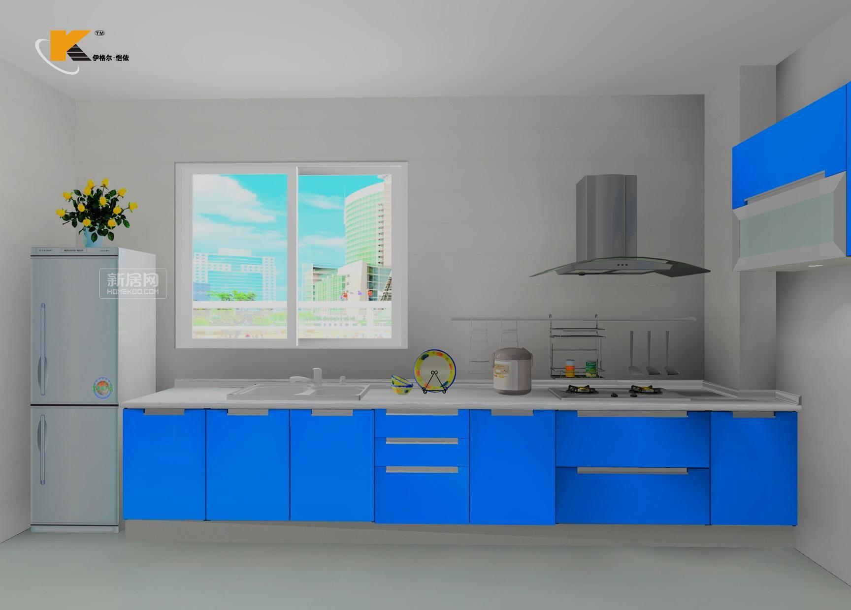 蓝蓝的天12_厨房装修_厨房装饰