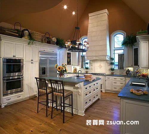手机壁纸现代欧式厨房实景图橱柜图片