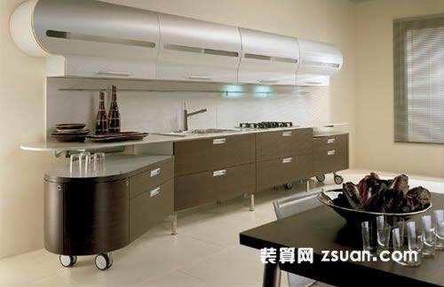 現代廚房實景圖櫥柜_廚房裝修