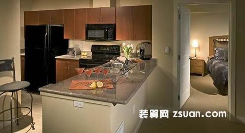 现代欧式厨房实景图餐台