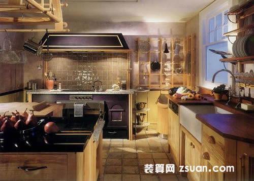 现代欧式大户型厨房实景图橱柜