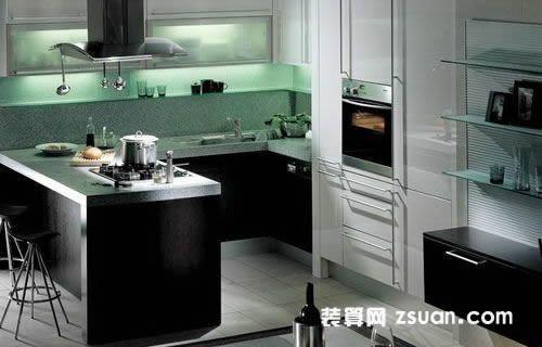 现代韩式厨房效果图橱柜