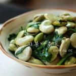 韭菜炒蚕豆的做法