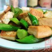芥兰炒豆腐