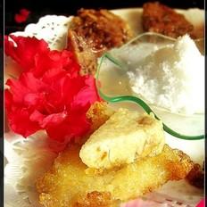 油煎糯米小粽子