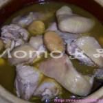 沙姜栗子焖鸡