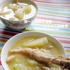 花生木瓜鸡脚汤的做法