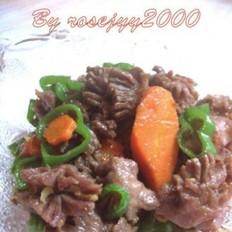 尖椒红萝卜炒鸡胗的做法