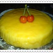 焦糖果冻布丁蛋糕的做法
