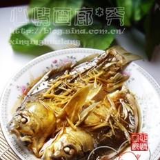 姜汁蚝油蒸活鲫鱼