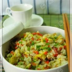 大米飯炒雞蛋的做法