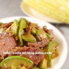 卤牛肉炒笋瓜