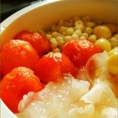 薏米银饵莲子西瓜冰粥