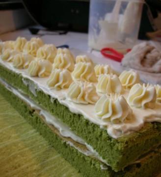 韩式裱花蛋糕图片长方形