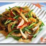 墨鱼干炒韭菜花的做法