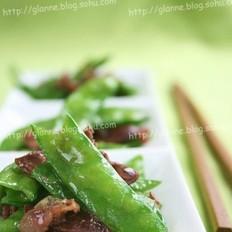 甜豆炒百合