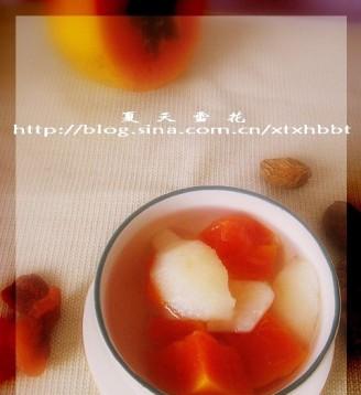打印木瓜红梨汤的做法(美食杰)