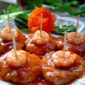 茄汁芋头猪肉虾仁饼