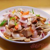 杂菇炒烧肉