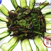 凉拌水蕨菜的做法