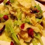 六炒圆白菜