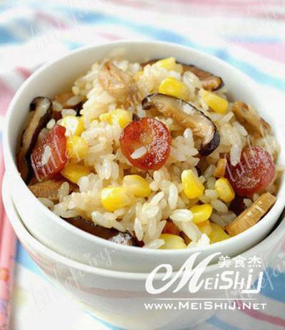 腊肉小米饭的做法
