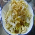 白灼白菜的做法