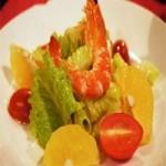 水果蕃茄海鲜沙拉