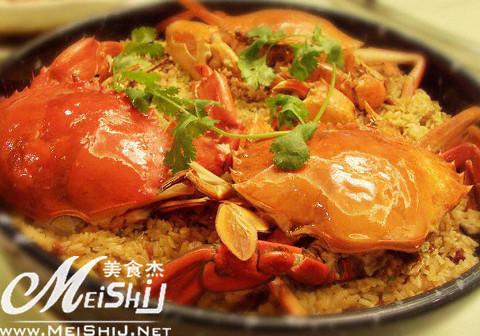 茄子蒸糯米湖南菜河蟹黄蒸咸蛋图片