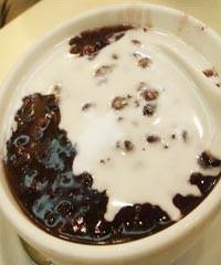 椰汁黑糯米粥