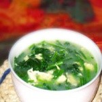 猪胰鸡蛋菠菜汤
