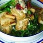 煎豆腐汆菠菜