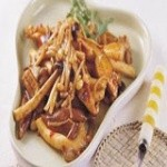 豆瓣酱炒鲜菇