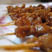 黑胡椒鸡肉串