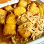 四季豆烩金针菇