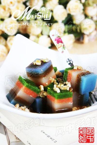 彩虹肉皮冻