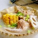 玉米排骨莲藕汤的做法