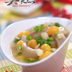 白果杏仁美肤汤的做法