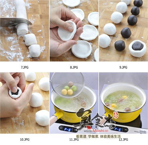 2,其他步骤和制作白色汤圆的方法全部一样.