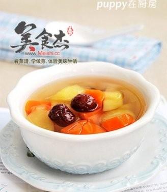 胡萝卜苹果红枣糖水的做法