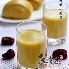 黑糖馒头+红枣枸杞豆浆的做法